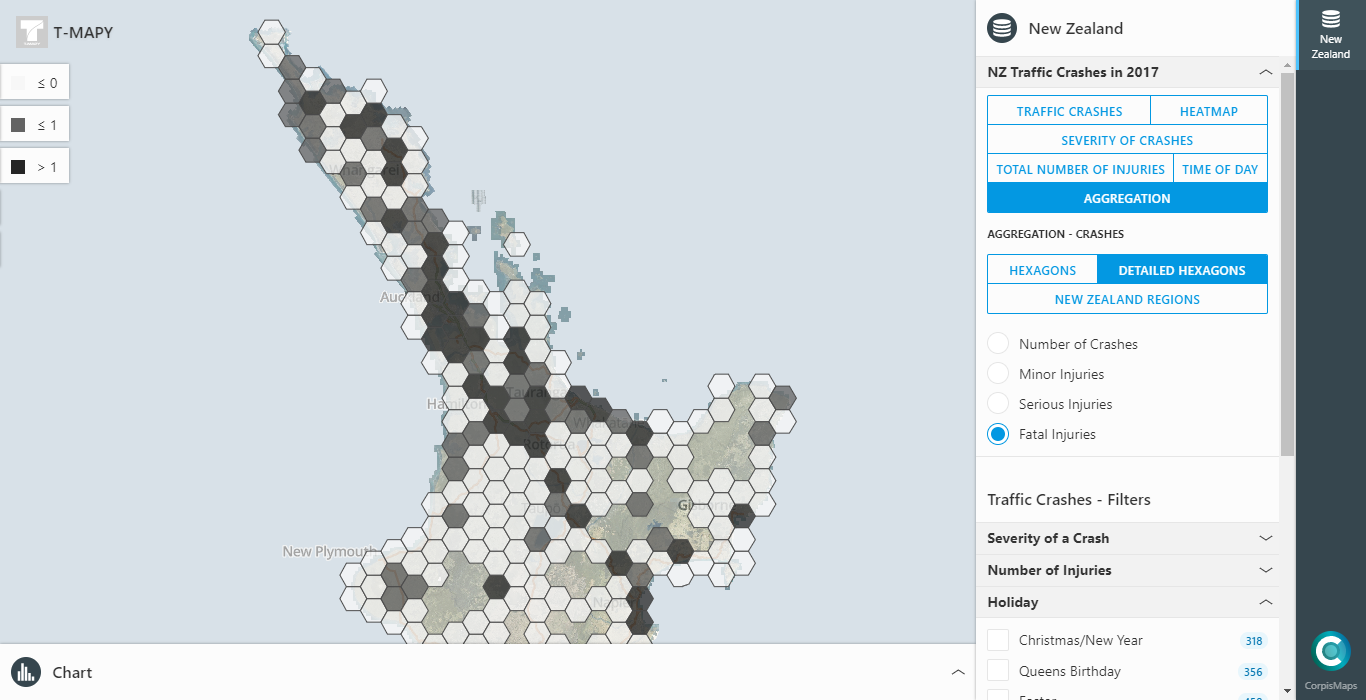 New Zealand Interactive Map.New Zealand Crash Analysis Interactive Map In Corpis Maps T Mapy