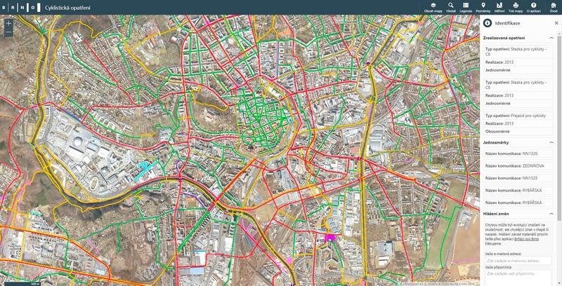 cykloopatření brno, Brno nově eviduje cyklistická opatření v celém regionu, T-MAPY spol. s r.o.
