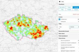 CORPIS_Zobrazení vybraných zákazníků v heatmapě_mini